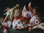 Igor and Ekaterina Pestov. Chicken Heads. 2016. Oil on canvas, 30 x 40 cm