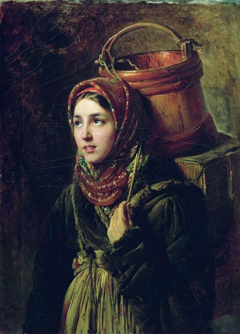 K. Makovsky. Herring Vendress. 1867