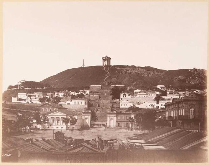 Ivan Barshchevsky. Kerch. View of Mitridat mountain. 1888. Albumen print