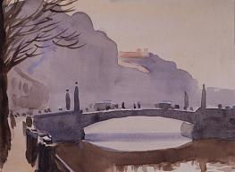 Nikolai Lapshin. Red Bridge