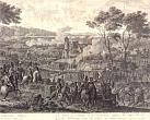 V. Shebuev. Defeat Corps of General Vandam of the August 18, 1813 near the Village Kulm. Fragment. 1813. Charcoal pencil paper. 56.1 x96.6