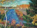 Arkady Rylov. Autumn at Tosno River. 1920. Oil on canvas. Russian Museum
