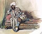 Turkish Pasha on the Sofa. First half of the 1840's. Watercolours and graphite pencil on paper. 24.4 х 30.9