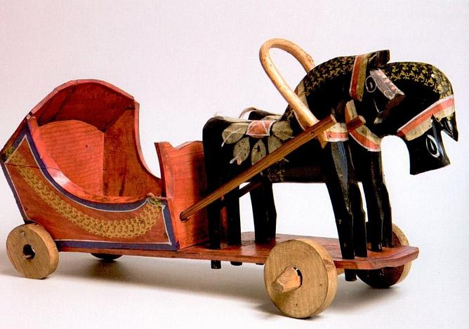 Wooden toy. Gorodets. Late XIX – early XX century. The State Russian Museum