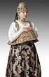 Young women's folk costume. Nizhny Novgorod Governorate. 19th century. The State Russian Museum