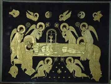 The Entombment. Embroidered shroud