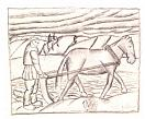 K. Malevich. A Ploughman. 1910-1911. Pencil on paper. 19.2 х 21.9.