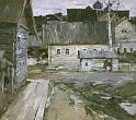 P. Fomin. Kargopol old town. 1965. Oil on canvas. 101 х 105. The State Russian Museum