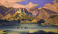 N. Roerich. Fortress (Lhasa). 1947. The State Russian Museum