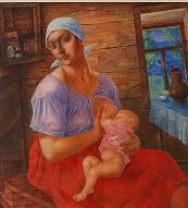 Kuzma Petrov-Vodkin. Mother