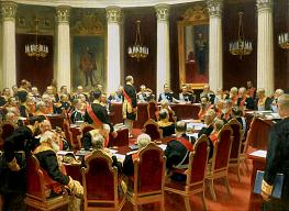 Ilya Repin.  Ceremonial Meeting of the State Council on May 7, 1901