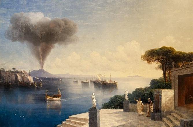 Ivan Aivazovsky. View of Mount Vesuvius a Day Before the Volcanic Eruption. 1885. Oil on canvas. Art Museum of Estonia
