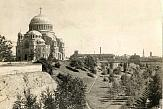 Unknown photographer. Kronshtadt. View of the Naval Cathedral of St. Nicholas. 1910s.