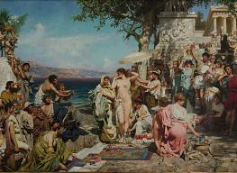 Heinrich Semiradsky. Frina on the Holiday of Poseidon