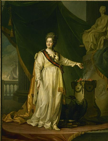 Dmitry Levitsky. Portrait of Catherine II the Legislatress in the Temple of the Goddess of Justice