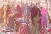 Dusty Market. Rajasthan, India. Canvas, giclee. 32x48 inches