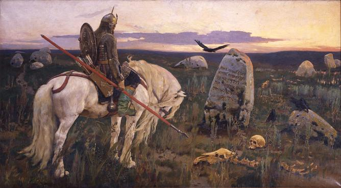 Viktor Vasnetsov. Knight at the crossroads. 1882
