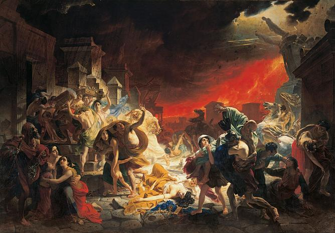 Karl Brullov. The Last Day of Pompeii. 1833. Oil on canvas.