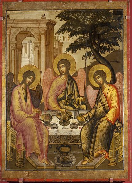 Simon Ushakov. Icon. The Old Testament Trinity