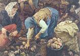 A.Plastov. Gathering Potatoes. 1956. Oil on canvas. Russian Museum
