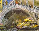 B. I. Anisfeld. Venice. Rialto Bridge. 1914. Oil on canvas. 60x73