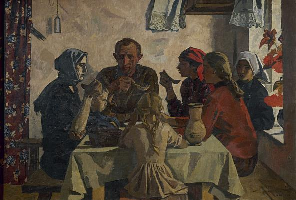 Victor Ivanov. The Family. 1945